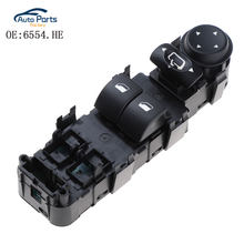 Coche de Control de ventana eléctrica interruptor para Citroen C4 2004 2-2010 6554.HE 6554HE interruptor de botón de encendido elevador de ventana del lado del conductor