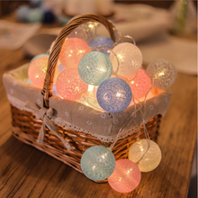 Cotton ball lamp indoor outdoors LED lamp Rattan bulb party festival wedding transparent String Lamp string Decorative lamp