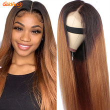 Ombre Human hair Wig Glueless T1B/30 2 Tone Color ombre blonde lace front wig human hair Brazilian Straight Wig Bleached Knots