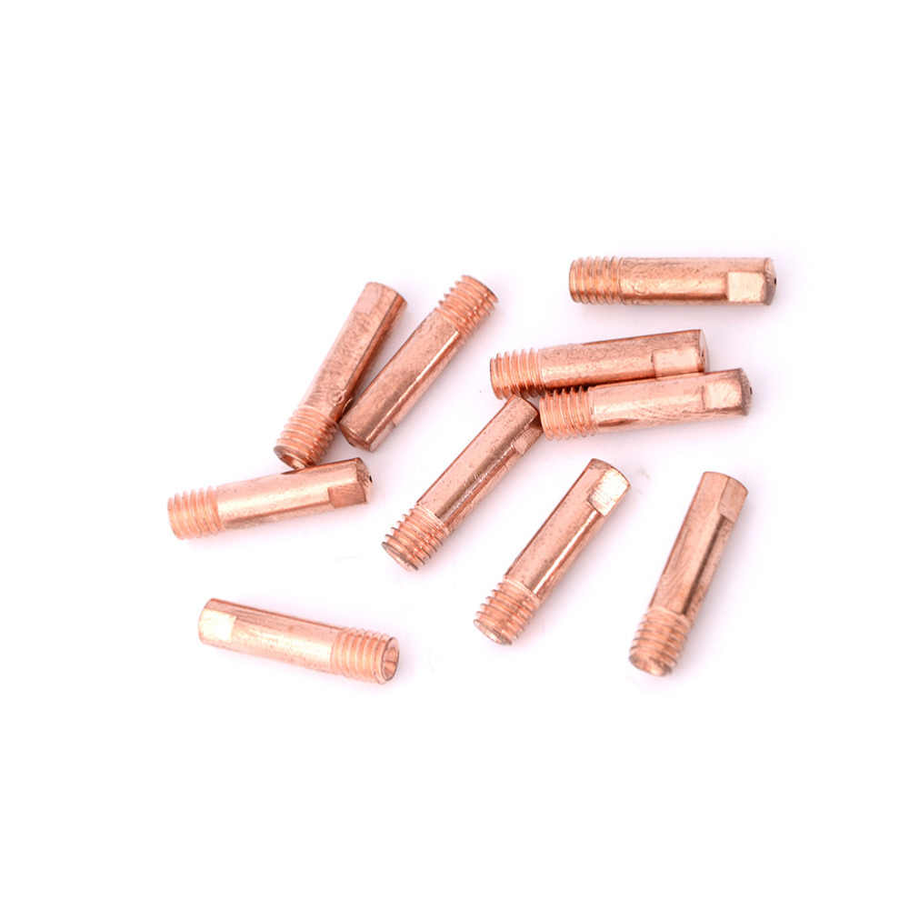 10pcs Gas Nozzle Gold 15AK-0.8mm Mig Mag Welding Weld Torch Contact Tips HGBE
