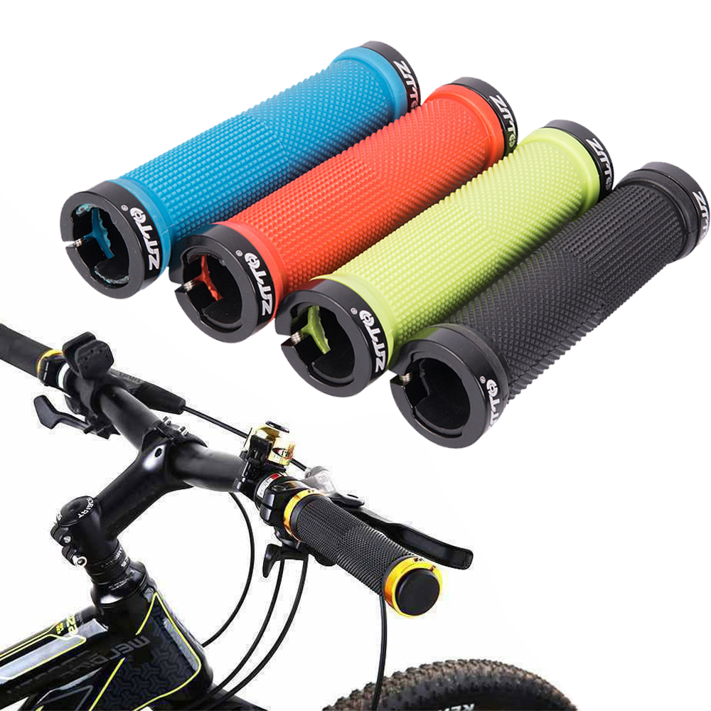 1 Pair Leather Bike Bar Grips Anti-Skid MTB Road Bicycle Cycling Handlebar Grip