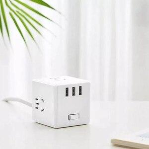 Image 5 - ใหม่ Xiaomi Mijia 2 In 1 Magic Cube USB Power Strip Adapter 6พอร์ต Socket Converter Mini Travel Socket ปลั๊ก Strip