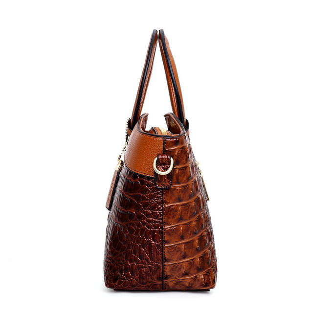Gykaeo Luxury Handbags Women Bags Designer Crocodile Woman Leather Handbag Ladies Green Party Tote Shoulder Bags Sac A Main 2020