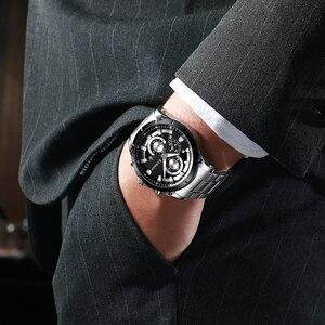 Image 3 - CURREN למעלה מותג יוקרה גברים שעונים ספורטיבי נירוסטה בנד הכרונוגרף קוורץ שעוני יד עם תאריך אוטומטי Relogio Masculino