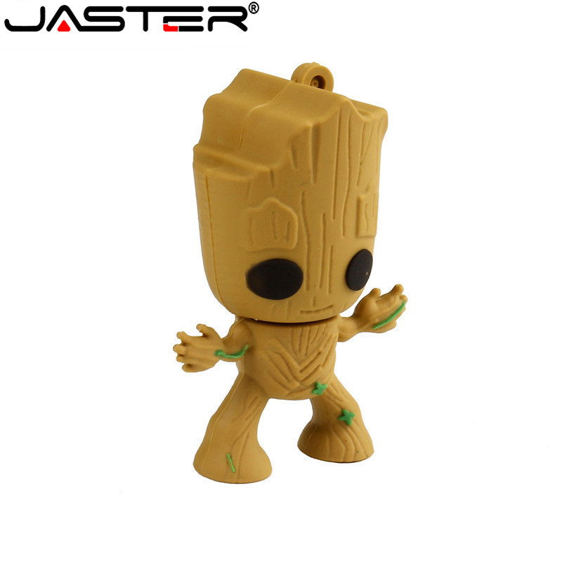 Creative Groot Cartoon Usb Flash Drives Guardians Of The Galaxy Fashion Pen Drive 4gb 8GB 16GB 64GB Memory Stick Pendrive 32gb