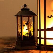 1pcs Halloween Led Lights Vintage Castle Bat Pumpkin Party Decoration Props Flame Supplies