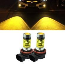 цена на 2pcs H8 Led H11 Bulb Lamp Fog Light Foglights Yellow 12V 24V 3000K High Bright Anti Fog Car Light H7 9005 9006 Driving Lamps