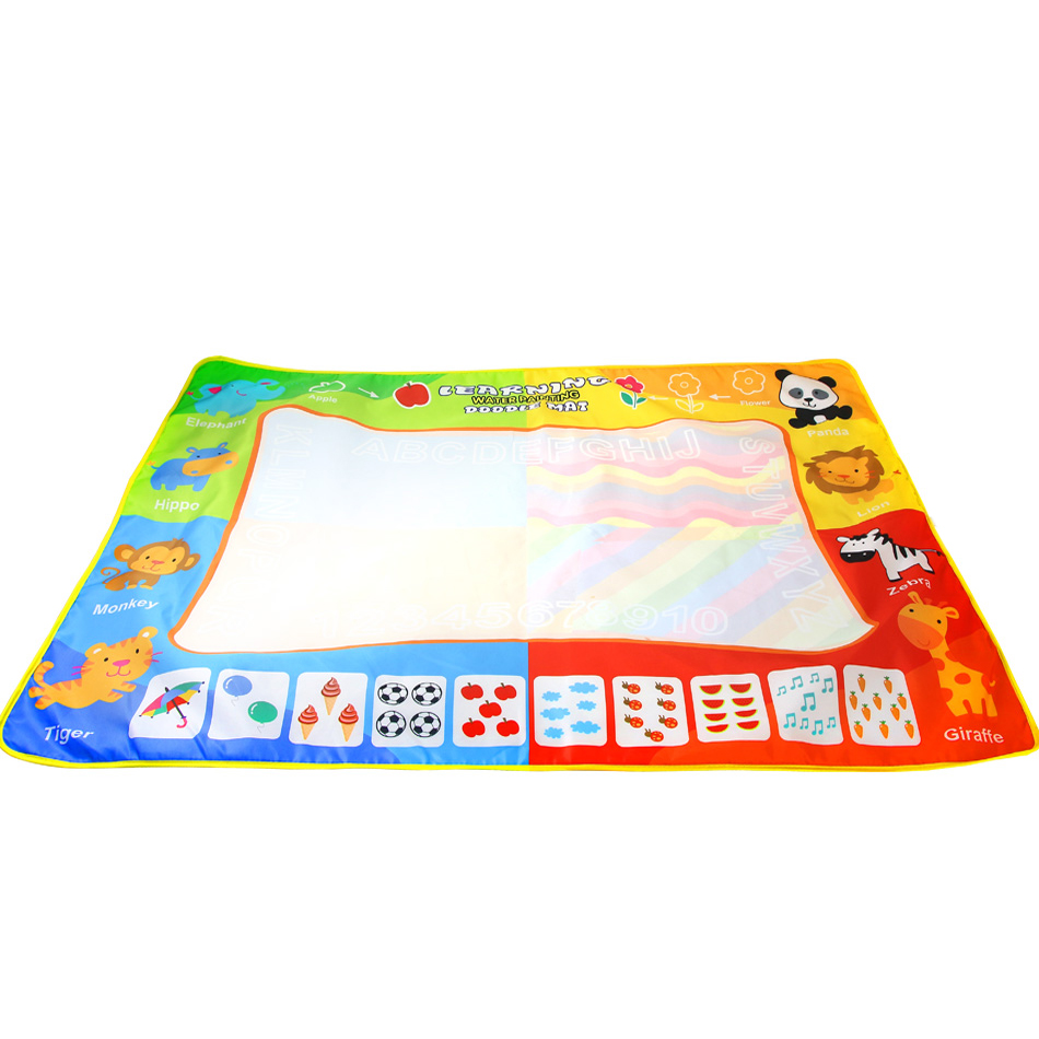 Water Doodle Mat, Water Drawing Painting Mat Large Size 120 X 90Cm Mess-Free Aqua Magic Mat For Kids Boys Girls