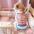 Weicher Baumwolle Frühling Sommer Haustier Katzen Westen Hundehemd Welpen Haustier Weste Kleidung für Kleinen Hund XS S M L|Hundemäntel und -Jacken|   -