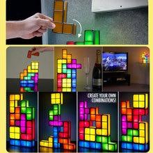 Romantic DIY Tetris Puzzle LED Night Light Colorful Constructible Block Night Lamp Creative Kids Toys Home Decoration 45