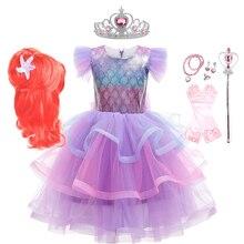 Mermaid-Costumes Prom-Dress Fantasy Little-Girls Kids Children for Makeup