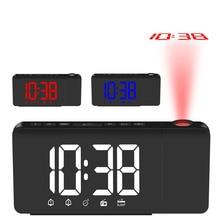 LED Alarm Clock Radio Projection FM Creative Fashion Snooze Function Drop shipping