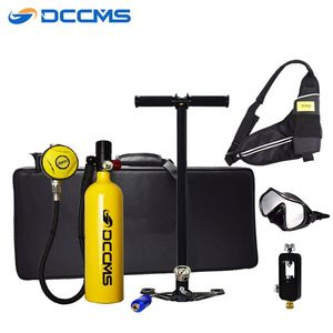 DCCMS 1L Outdoor Diving Oxygen Tank Large Capacity Snorkeling Underwater Oxygen Cylinder Dive Respirator Diving Equipment(China)