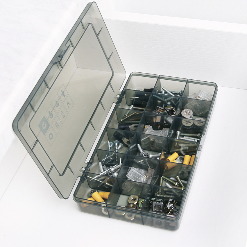 1PC New 18 Slots Cells Portable Jewelry Tool Box Container Electronic Parts Screw Beads Toy Book Clothes Component Storage Box