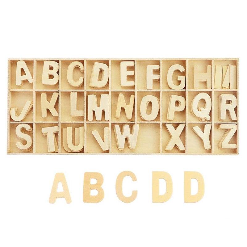 Деревянные буквы натуральный алфавит, буквы, цифры название дизайна DIY индивидуальное ремесло на свадьбу, день рождения, Рождество вечерние...