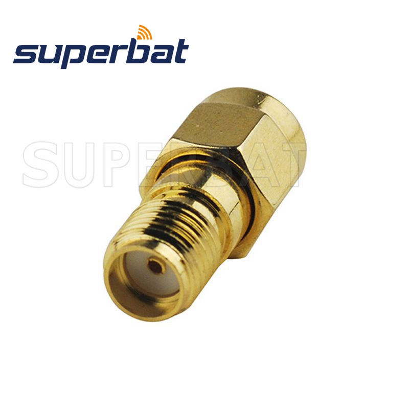 Gold Metal Straight SMA Female to Female Jack RF Adapter Connector TS