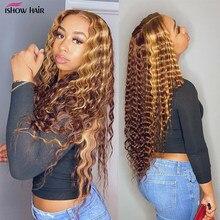 4/30 Выделите глубоко вьющиеся синтетические волосы на Синтетические волосы на кружеве парики из натуральных волос на кружевной эффектом де...
