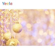 Yeele Christmas Backdrop Golden Ball Light Bokeh Newborn Baby Photography Background Photo Studio Photobooth Shoot Photophone
