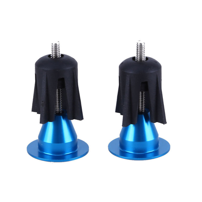 1Pair Bike Handlebar Cap <font><b>Bicycle</b></font> Grips Aluminum Alloy Bike Handlebar End Lock-On Plugs Bar Grips Caps Covers <font><b>Bicycle</b></font> <font><b>Parts</b></font> image