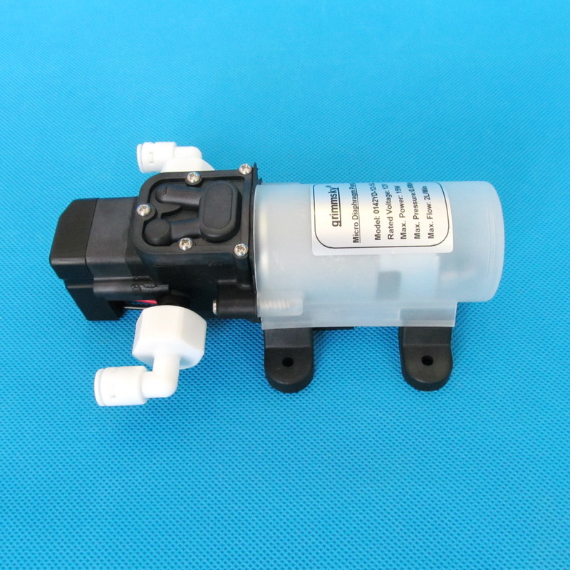 No-Branded 2L//Min 12V 15W Very Quiet Water Purifier Water Filter System Pressurized Auto Start-Stop Water Pressure Booster Pump WZCUICAN