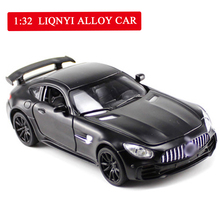 1/32 Simulated Minicar GTR Childrens Open Door Sound Photosynthetic Gold Return Toy Car Best Gift Toys Hot Wheels
