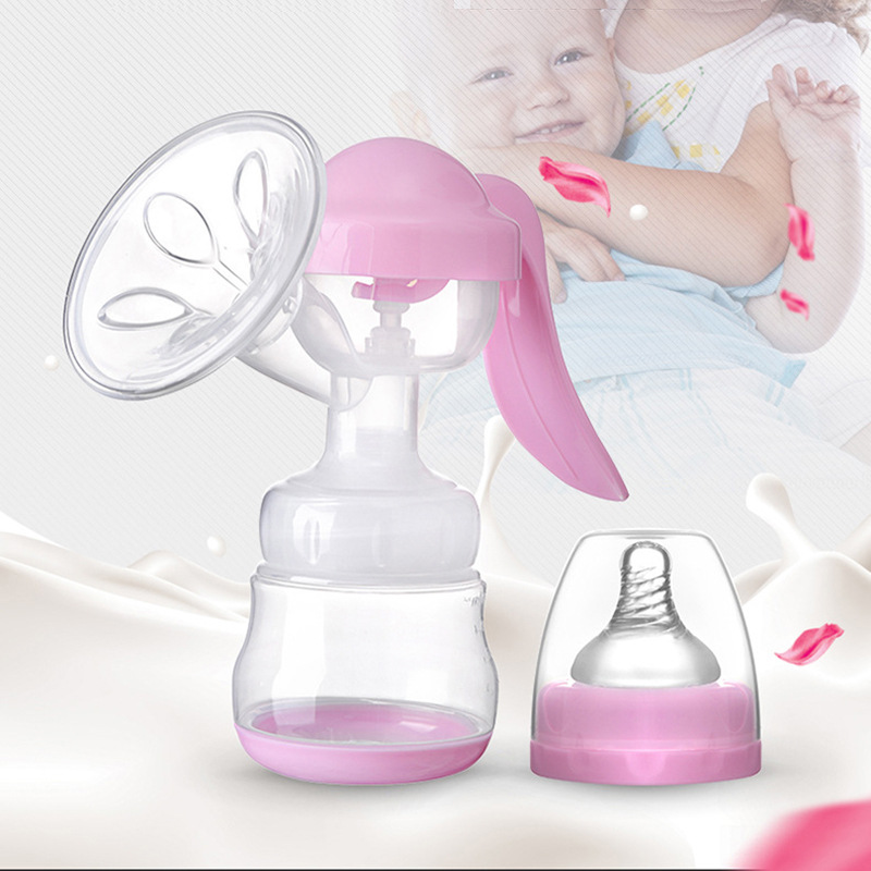 Manual Breast Pump Powerful Baby Nipple Suction 150ml Feeding Milk Bottles Breasts Pumps Bottle Sucking Postpartum Supplies