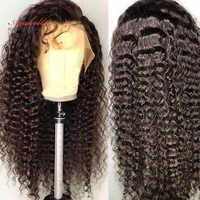 Pelucas de pelo humano frontal de encaje de onda profunda 180 Peluca de encaje brasileño Remy 360 de densidad con pelo de bebé predesplumado para negro las mujeres Arabella