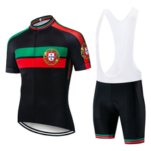Men Portugal Cycling Jersey Set 2020 Short Sleeve MTB Road Bike Apparel Breathable Qucik Dry Bicycle Clothing