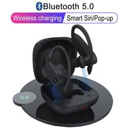 B10 Wahre TWS Drahtlose Bluetooth 5,0 Kopfhörer Sport Ohr Haken ohrhörer Water Kopfhörer Drahtlose Lade stereo Headset PK Q62