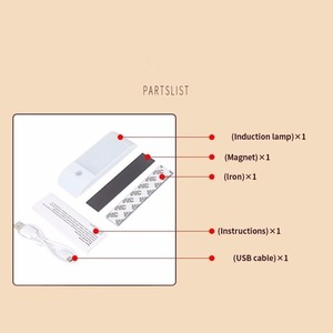 Image 3 - 12 LED PIR อินฟราเรด Stick ON ตู้เสื้อผ้า Night Light USB Motion Detector เซ็นเซอร์เหนี่ยวนำตู้เสื้อผ้า Corridor โคมไฟ 5V