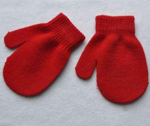 1 par de guantes de invierno guantes cálidos Color caramelo bebé niñas niños 2018 nuevos niños sólidos bebé niños cálido guantes y mitones
