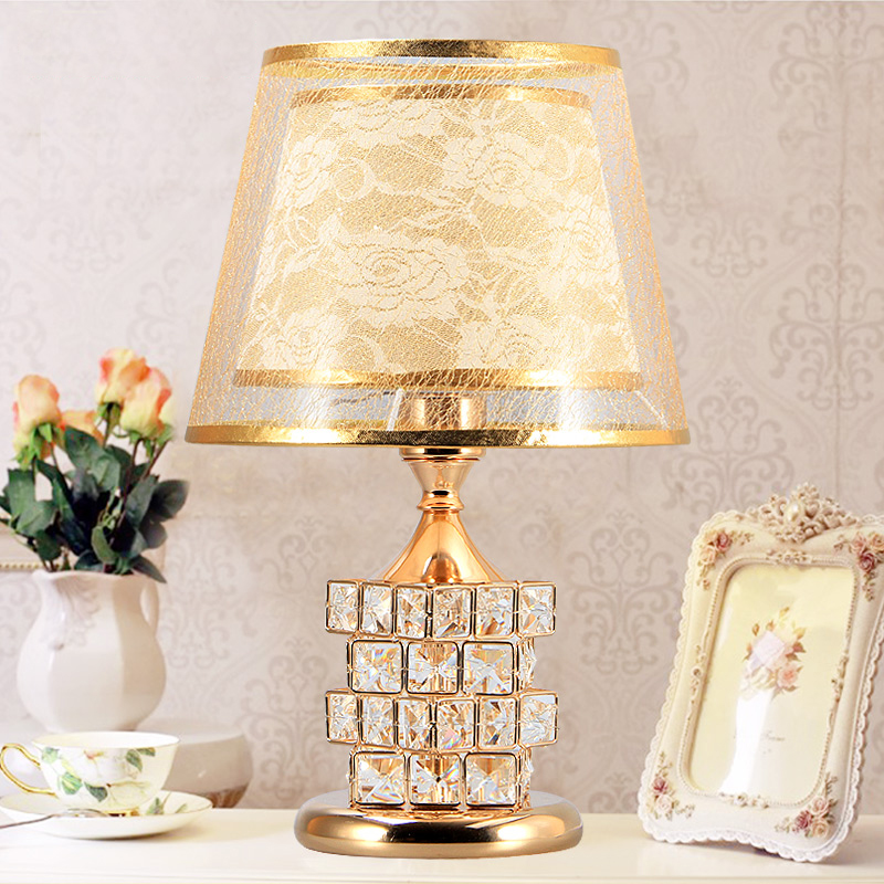 European Luxury Crystal Table Lamp Bedroom Led Desk Lamps Golden Bedside Night Light Home Decoration Lighting Yhj011407 Table Lamps Aliexpress
