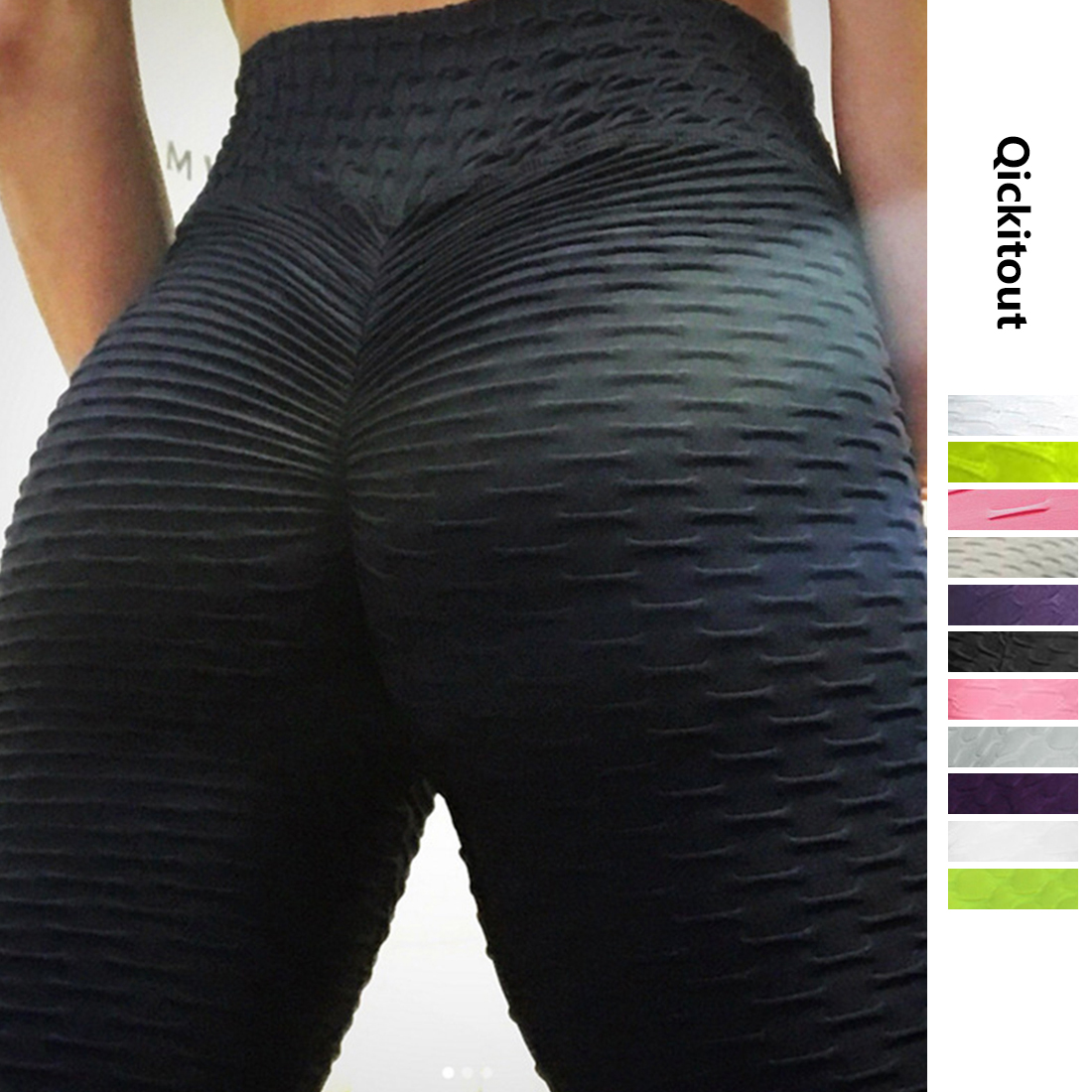 High Waist Fitness Leggings Women Workout Push Up Legging Fashion Solid Color Bodybuilding Jeggings Women Pants