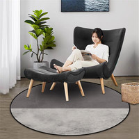 Wishstar preto cinza tira grande quarto tapete redondo crianças quarto cadeira capa tapete moderno decoração de casa|Tapete|Casa e Jardim -