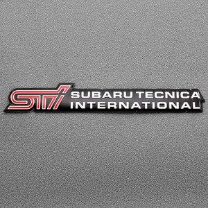 1 Uds estilo de coche pegatina STI Puerta de coche cola etiqueta STI emblema insignia para legado SUBARU Forester interior Rally WRX WRC XV Impreza