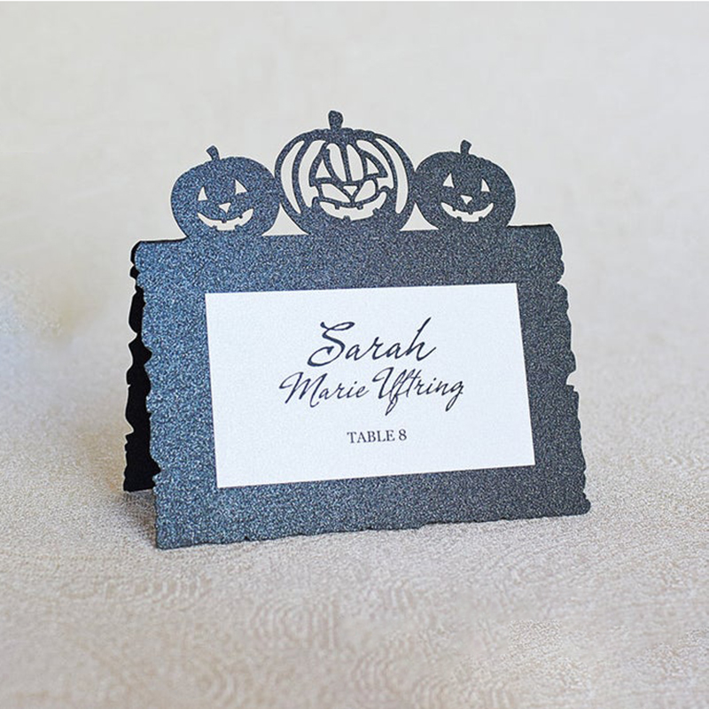 Happy Halloween Metal Cutting Dies place card Craft Die cut Scrapbooking New 2019 For diy Paper Card Making Stamp and dies in Cutting Dies from Home Garden