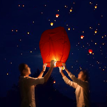 10PCS Chinese Paper Sky Flying Wishing Lanterns Fly Candle Lamps Christmas Party Wedding Decoration