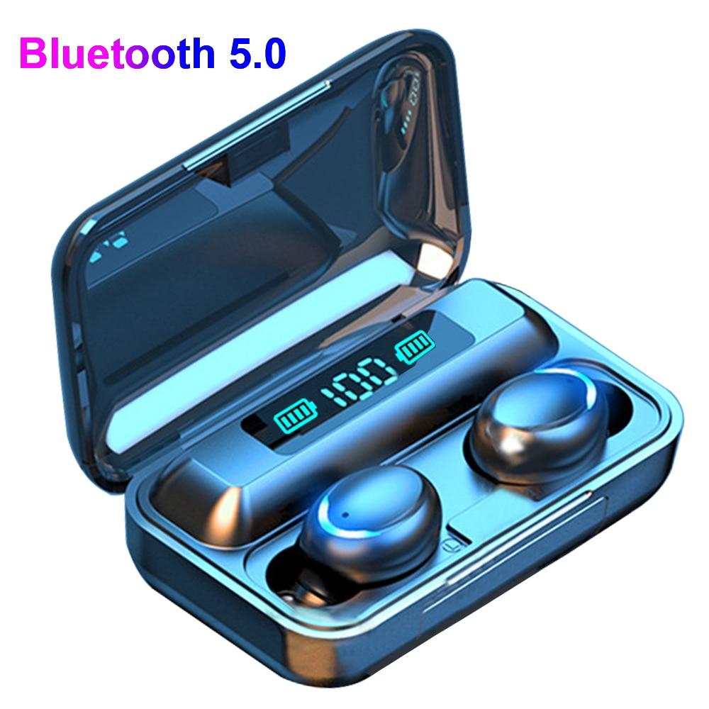 TWS 5.0 Bluetooth Earphone Wireless Earphones Stereo In-ear Earbuds Headset Handsfree With 1200mAh Power Bank For IPhone