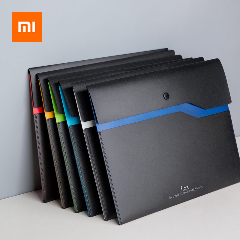 Xiaomi Youpin Fizz Filing Product A4 File Holder Organizer 2-Layer Large Capacity Document Bag Business Briefcase Office Supply(China)