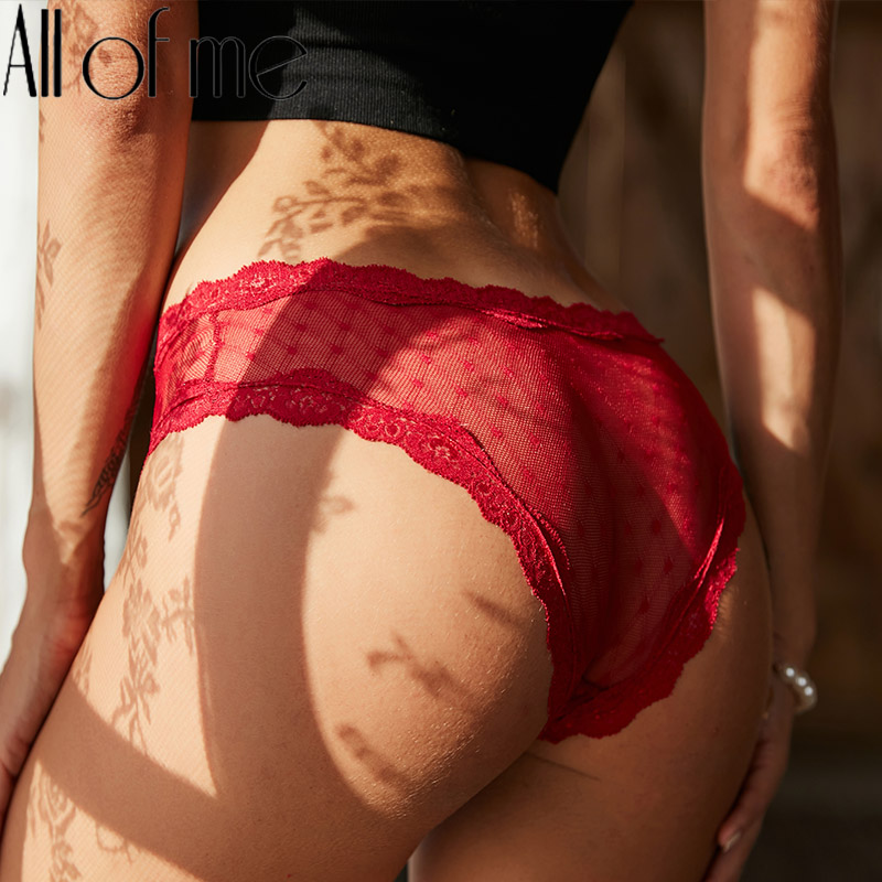 Mutandine di pizzo biancheria intima Sexy slip da donna Pantys mutande femminili mutandine di prospettiva ragazze intimi Lingerie tinta unita M-XL