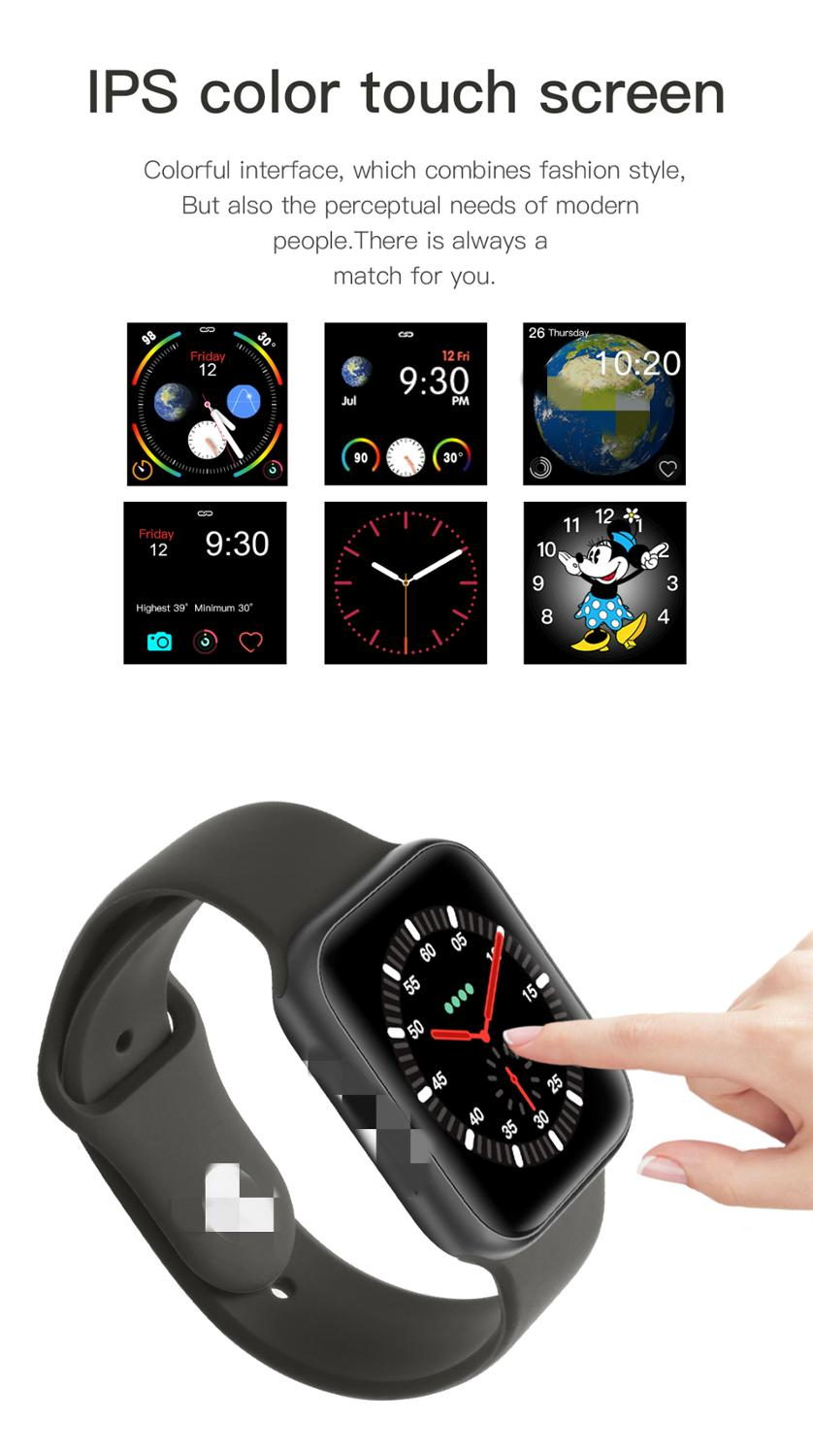 Buy Online  IWO11 smart watch GPS waterproof Series 5 heart rate alarm clock weather for Android IOS smart watc