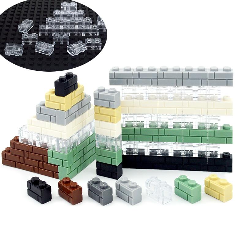 Конструктор «сделай сам», толстая стена, дверь, окно, кирпичи, 1x2 точки, развивающие строительные блоки, совместимы со всеми брендами, игрушки для детей|Блочные конструкторы|   | АлиЭкспресс