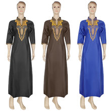 Женская одежда больших размеров md платья с вышивкой в африканском