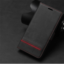 цена на Coque S8 S9 S10 Plus Note 8 9 Carcasa Couple Simple Luxury Flip Leather Case For Samsung Galaxy S8 S9 S10 Plus Casing Card Cover