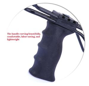 Image 3 - Proca profesjonalna z gumką i podpórka pod nadgarstek 2 kolory proca do polowania uchwyt ABS zewnętrzna strzelanka