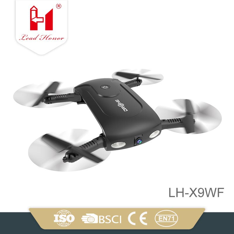 Li Huang XX9 Pocket Unmanned Aerial Vehicle Mobile Phone Control With Fixed High Foldable One-Button Landing Take-off Quadcopter