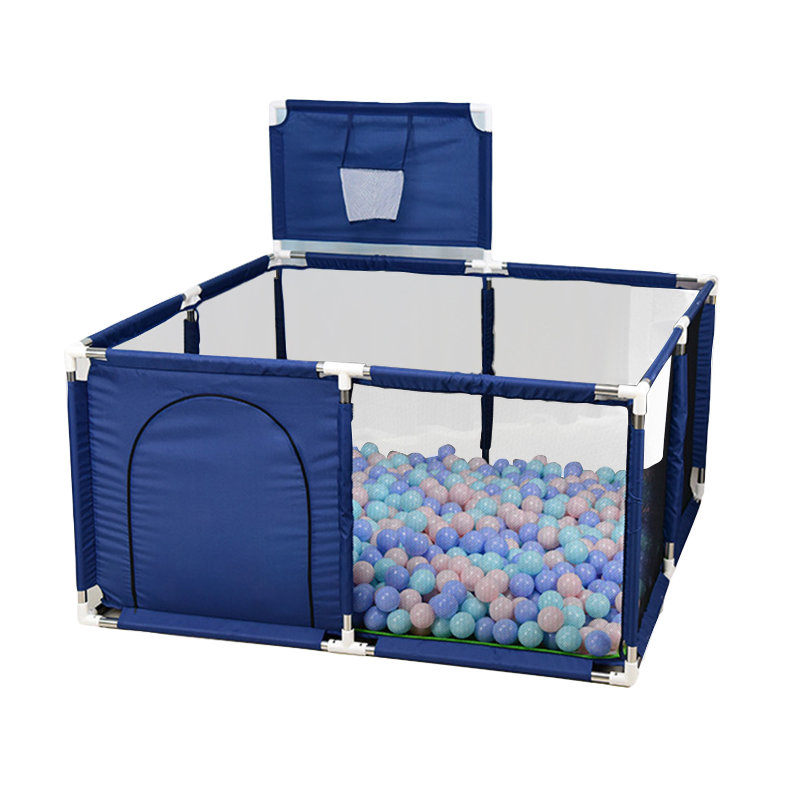 Baby Playpen With Basketball Children's Playpen Children's Pool Bed Baby Fence Indoor Playground Field Game Center For Kids