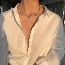 Choker Necklace Collar-Chains Star Butterfly Women for Link Gold Chocker-Shining Female