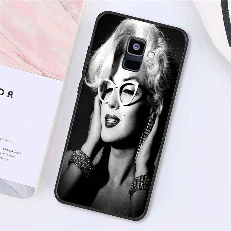 Yinuoda seksi kızlar Marilyn Audrey Hepburn arkadaş Monroe telefon samsung kılıfı Galaxy A7 A50 A70 A40 A20 A30 A8 A6 A8 artı A9