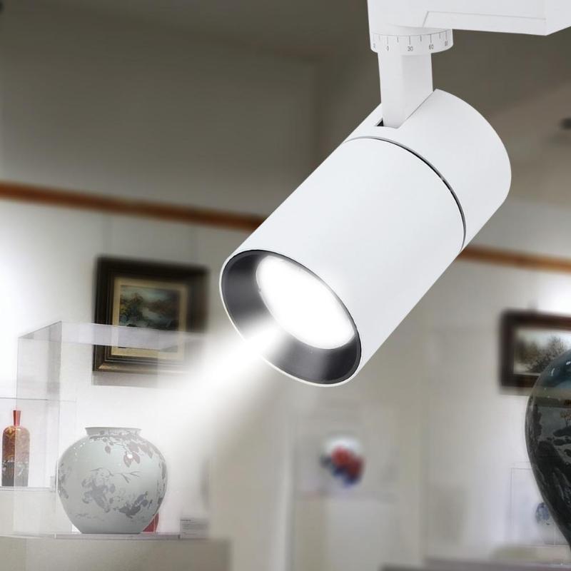 COB 10W 20W 30W Led Track Light Aluminum Ceiling Rail Track Lighting Spot Rail Spotlights Replace Halogen Lamps